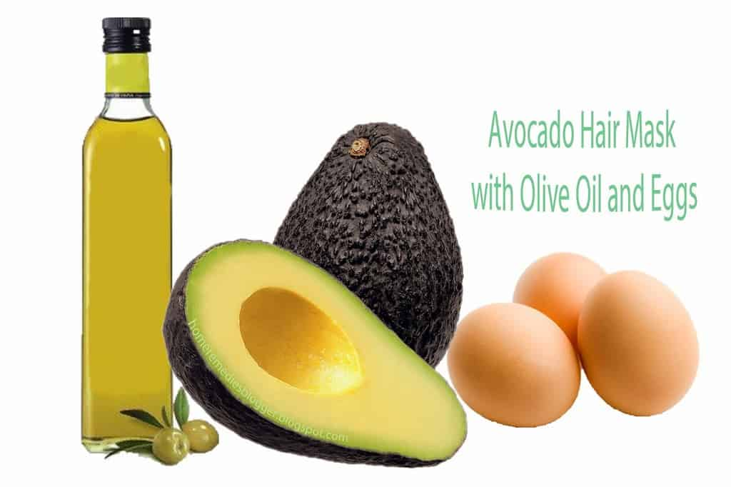 Avocado with Olive Oil and Eggs Hair Mask